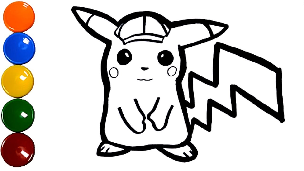 How To Draw And Color Pokemon Detective Pikachu Coloring For