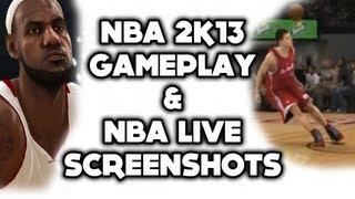 NBA 2K13 Gameplay & NBA Live 13 Screenshots Released!