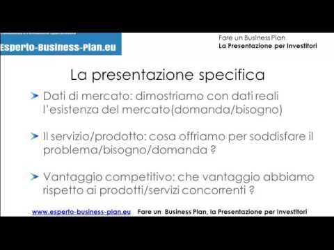 Business Plan e Finanziamenti Start Up, la Presentazione per Investitori