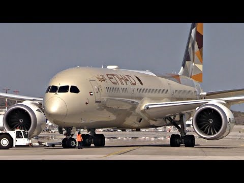 Etihad 787-9 Pushback & Takeoff from Athens & Emirates 777-300! | Plane Spotting Close Views