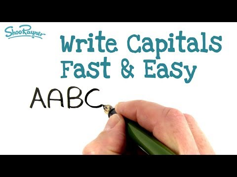 Write Capital Letters Fast And Easy