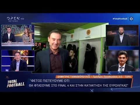 Ο Δημήτρης Γιαννακόπουλος στο Total Football - 8/12/2019 | OPEN TV