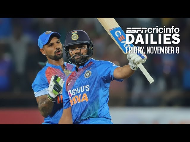 Rohit shines in 100th T20I to level series