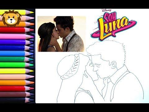 Como Dibujar Soy Luna Luna Y Matteo Dibujos Para Niños Draw