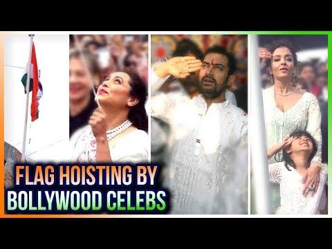 Indian Flag Hoisting  Aishwarya Rai, Rani Mukerji, Aamir Khan, Vidya Balan Hoist The Flag