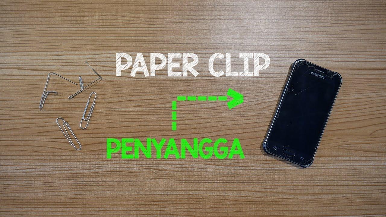 Paper Clip Penyangga Handphone