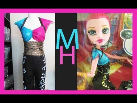 Monster High Gigi Grant Costume Tutorial  sc 1 st  YouTube & Monster High Gigi Grant Costume Tutorial - YouTube