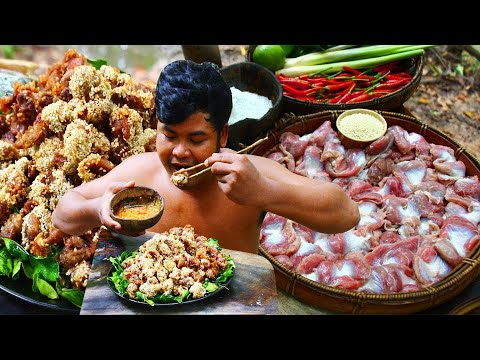 Cooking Chicken Island Recipe - Fried Spicy Duck Gizzard Holy Basil delicious food from YouTube · Duration:  13 minutes