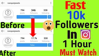 Increase 10k Followers on Instagram in 1 Day Trick 100% Working
