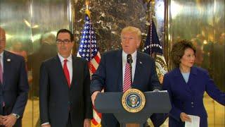Trump Blasts Quitting CEOs, Defends Bannon