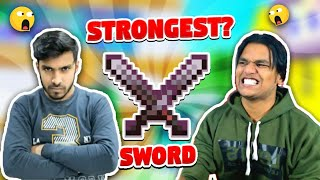 Indian Gamers React On Strongest Sword In Minecraft | Techno Gamerz | Battle Factor