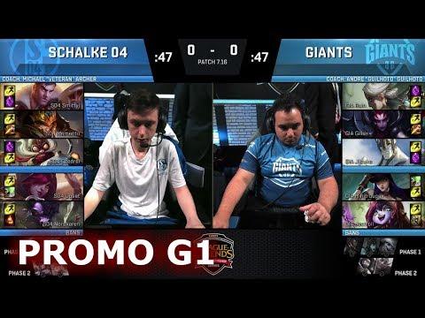 FC Schalke 04 vs Giants | Game 1 Round 2 Promotion/Relegation S8 EU LCS Spring 2017 | S04 vs GIA G1