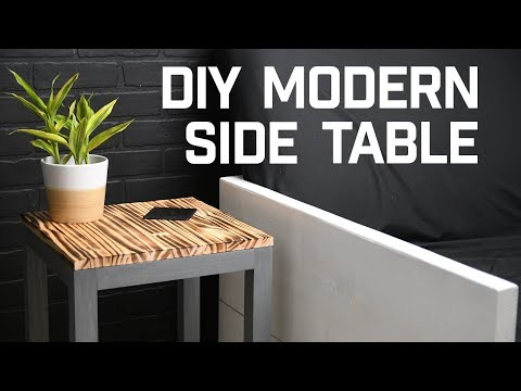 HOW TO // Simple Modern DIY Side Table
