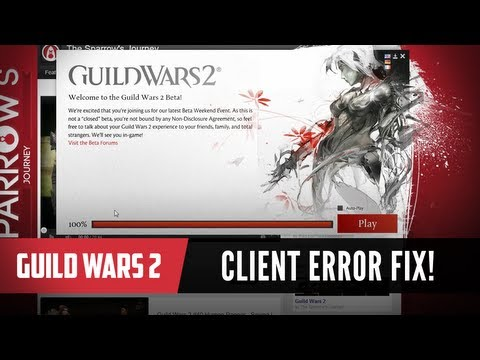 Guild Wars 2 - How to fix the client update error!