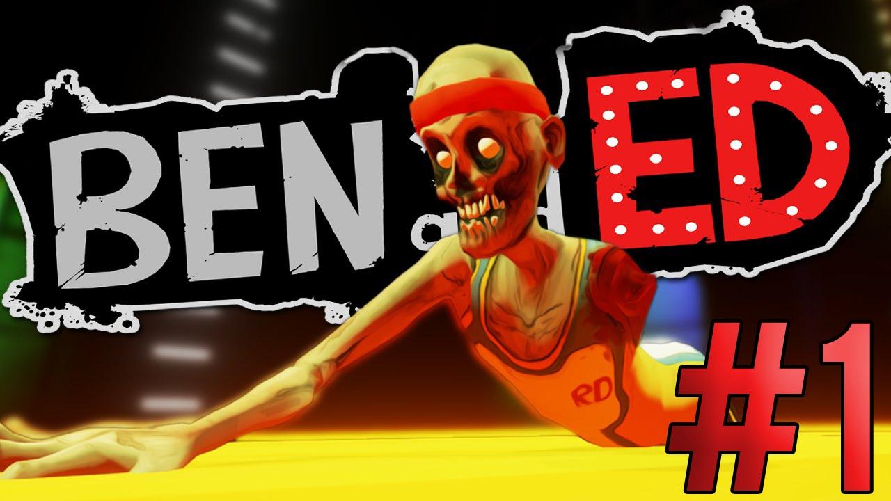 BEN AND ED #1 - 3D HAPPY WHEELS ZOMBIE? - YouTube
