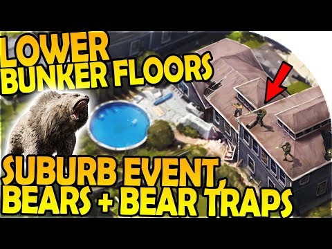 BUNKER FLOORS 4 + 5 + 6 - SUBURB EVENT, BEARS + BEAR TRAPS - Last Day On Earth Survival 1.6.8 Update