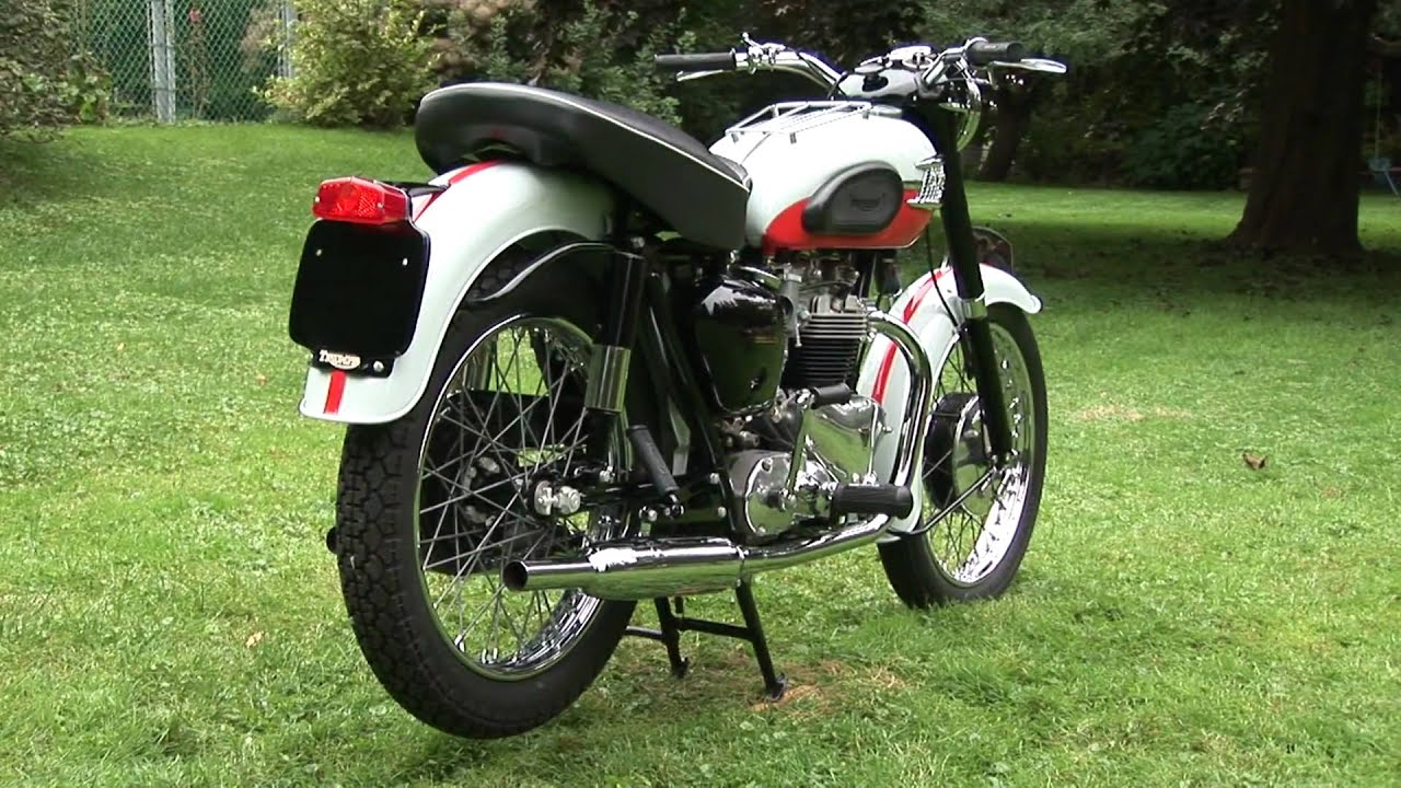 triumph bonneville motorcycle vintage 1959 - youtube