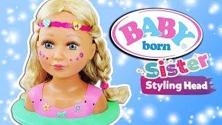Baby Born Sister Styling Head 💖 Puppe zum selber stylen mit 24 Accessoires💖Zapf Creation💖Werbung*