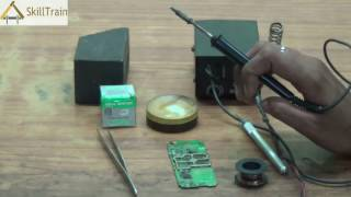 using a soldering iron connecting jumper wire english