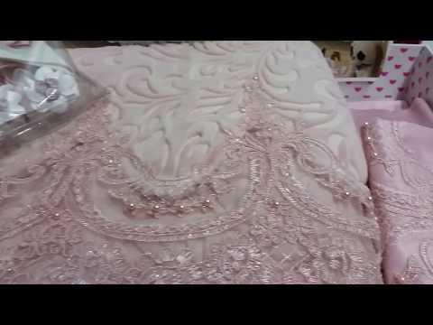 Fransız Güpürlü bebek battaniye takimi pudra