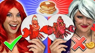 ARIEL VS URSULA PANCAKE ART CHALLENGE. Which Little Mermaid Character Is Best? Totally TV Challenge