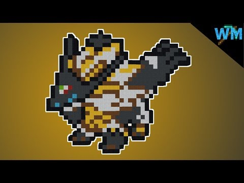Minecraft Pixel Art Ultra Solgaleo Mini Sprite Youtube