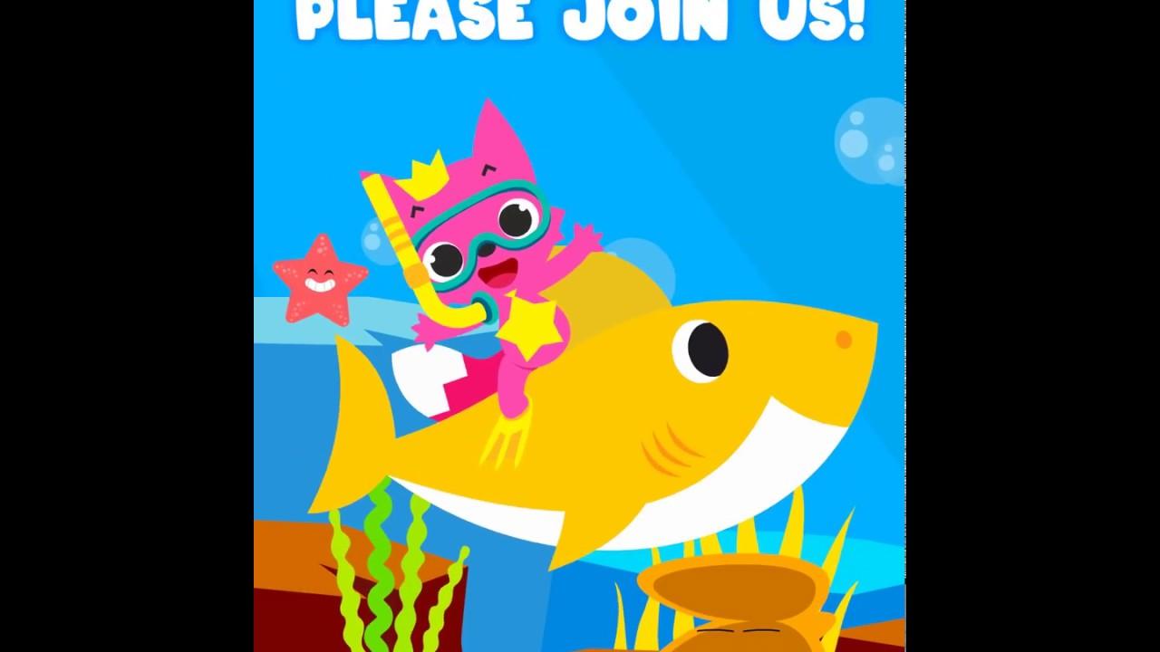 Baby Shark Animated Video Invitation Youtube