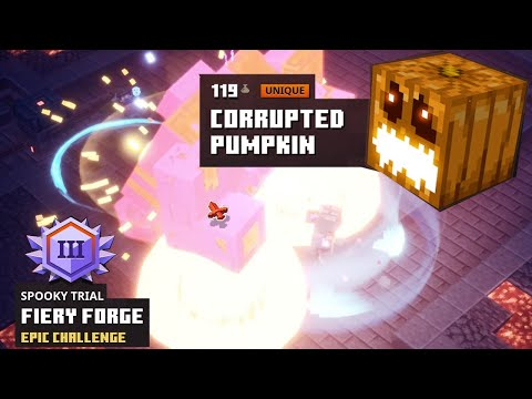Minecraft Dungeons CORRUPTED PUMPKIN | Spooky Trial III (Night Mode) |