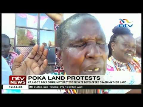 Kajiado's Poka community protest private developers grabbing their land
