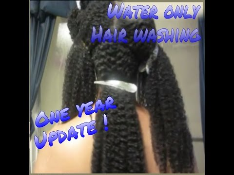 Water only hair washing - 1 year update :)