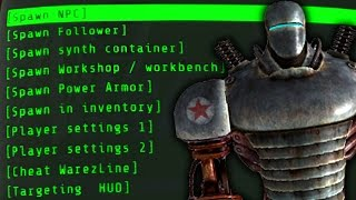 Fallout 4 Console Mods - BEST CHEAT MENUS/CONSOLE COMMAND EQUIVALENTS ! (Console Mods)
