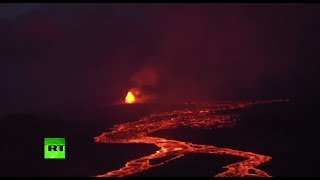 Apocalyptic: Aerial footage shows scale of Hawaii volcano disaster