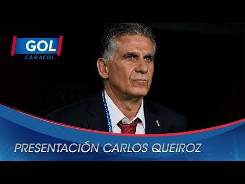 Presentación de Carlos Queiroz como nuevo técnico de la Selección Colombia