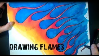 How to draw Flames of Fire on paper with StyleFile Marker