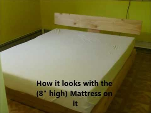 DIY: Custom Wood Platform Bed Frame!!