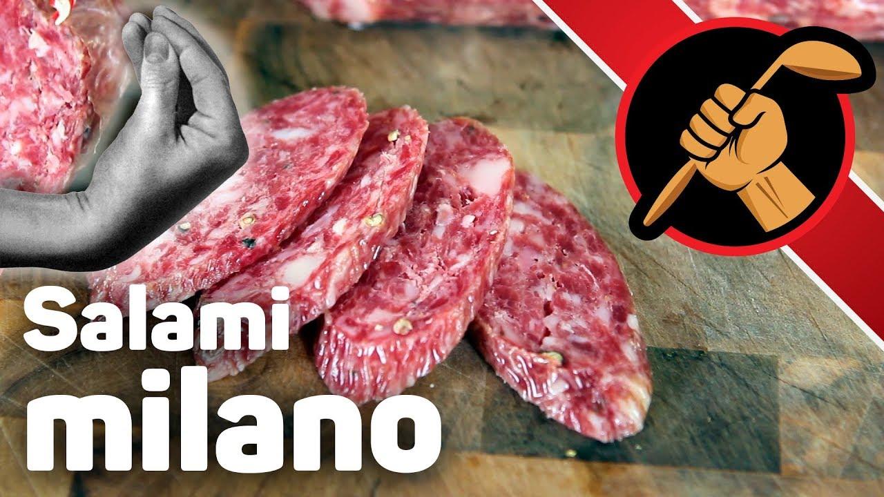 Сыровяленая салями милано - дома