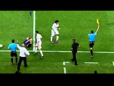 Mourinho kicks Cesc Fabregas Super Cup 2011