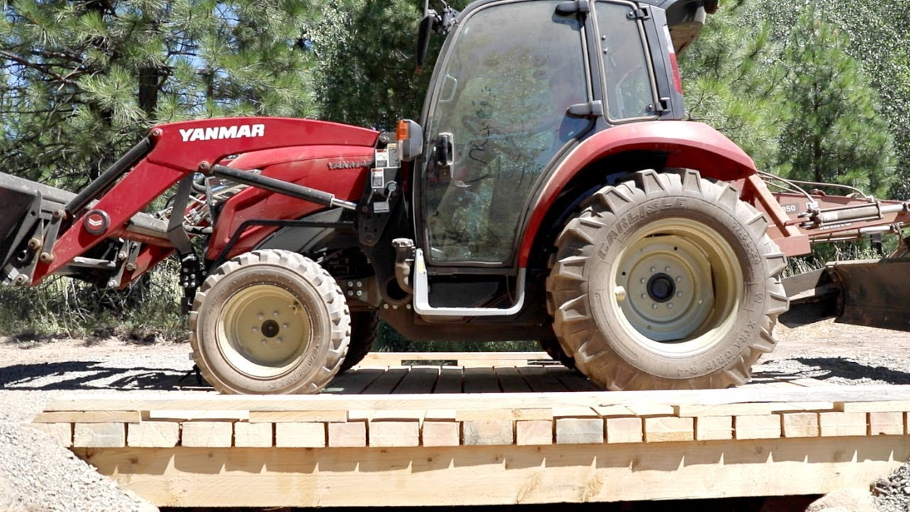 how to build a bridge over a creek for a tractor 9 youtube. Black Bedroom Furniture Sets. Home Design Ideas
