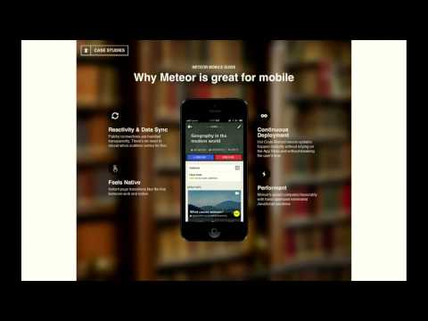 Percolate Studio: How to get your Meteor app into the App Store -- Devshop 8 Tech Talk