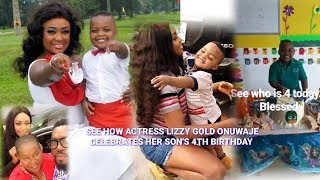 SEE HOW Lizzy Gold Onuwaje CELEBRATES Her SON39S BIRTHDAY  HBD PRINCE