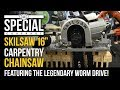 "Skilsaw's New ""SawSquatch"" 16"" Worm Drive Carpentry Chainsaw SPT55-11 at STAFDA 2018"