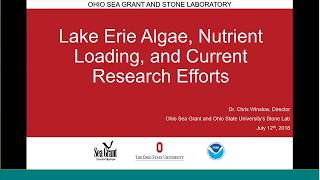 Stone Lab Guest Lecture July 12 2018: 2018 Lake Erie HABs Forecast