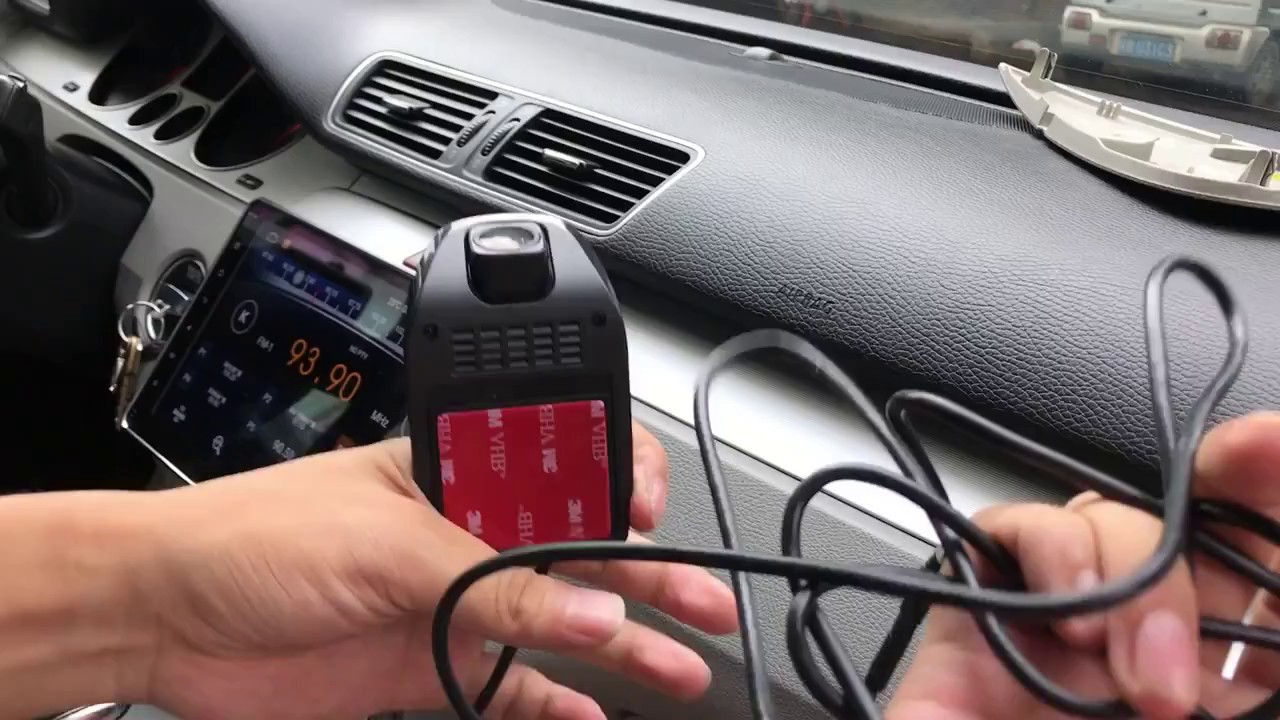 How to install a DVR front camera video recorder in a car connect with  android multimedia system