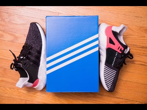 newest 154e8 ef5b8 Adidas Equipment EQT Support 9317 Black Turbo Review and On Feet