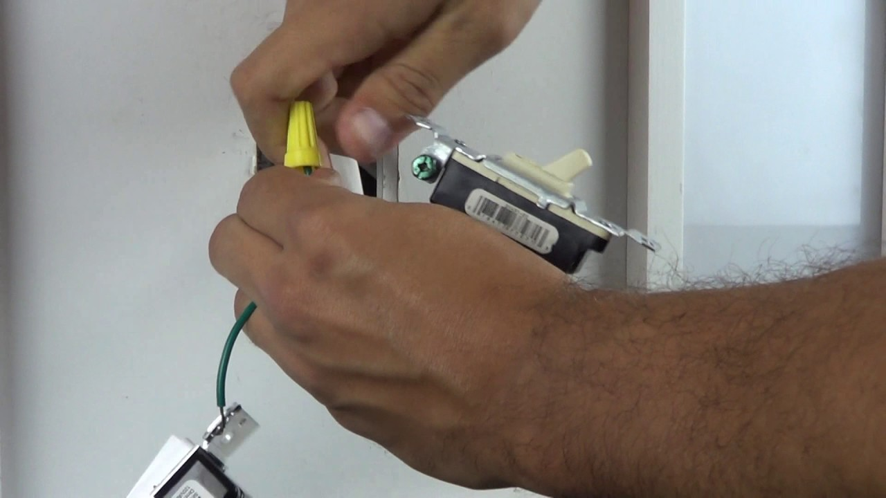 wiring a single pole dimmer with wire leads  [ 1280 x 720 Pixel ]