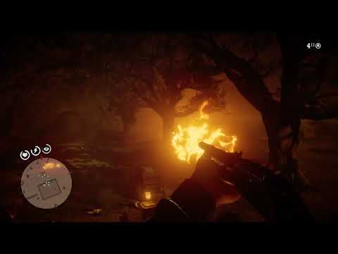burning manor house - Red Dead Redemption 2