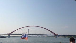 Прогулка на теплоходе по реке Обь, вид на Бугринский мост(Прогулка по реке Обь на теплоходе, на 48 секунде проходим под Бугринским мостом, на 2 минуте 49 секунде проход..., 2016-06-15T13:47:00.000Z)