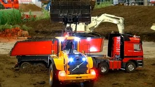 Stunning RC Construction-Equipment! RC Truck´s! RC Excavator! RC Wheel Loader! RC Trac Loader!