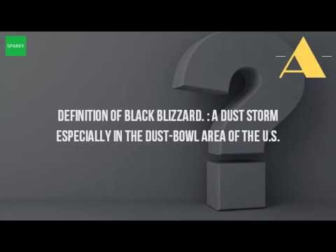 what is a black blizzard definition youtube
