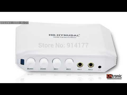 Newest ! HDMI Karaoke Sing machine mixer Converter for PC TV DVD Karaoke system mixer make the...